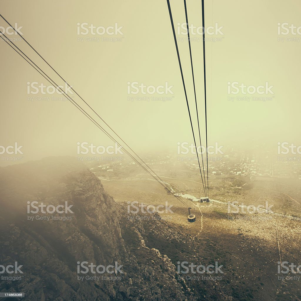 Aerial Cableway Table Mountain Cape Town royalty-free stock photo