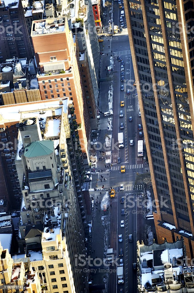 Aerial City Street royalty-free stock photo