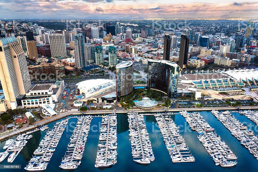 Aerial Cityscape San Diego stock photo