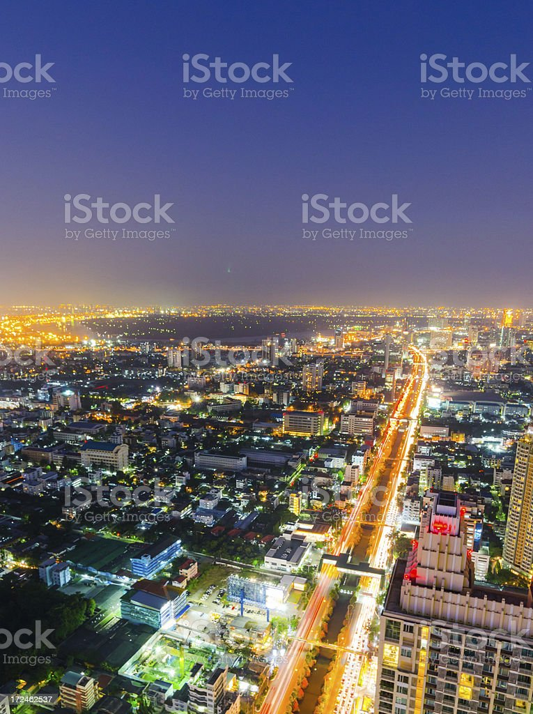 Aerial cityscape view in Asia royalty-free stock photo