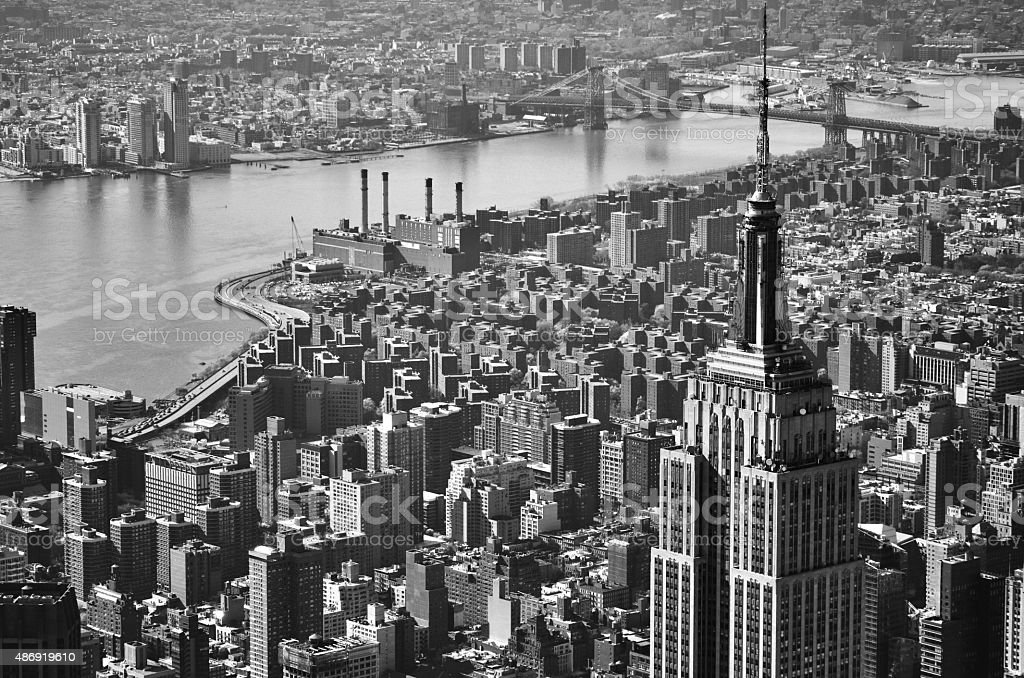 Aerial Cityscape View of Lower East Side stock photo