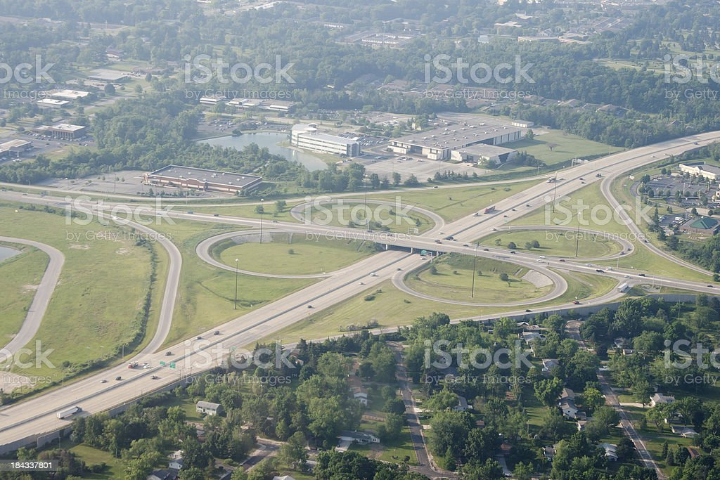 Aerial Clover Leaf stock photo