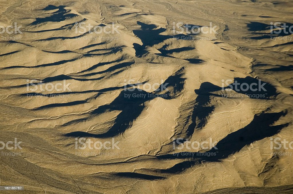 Aerial desert royalty-free stock photo