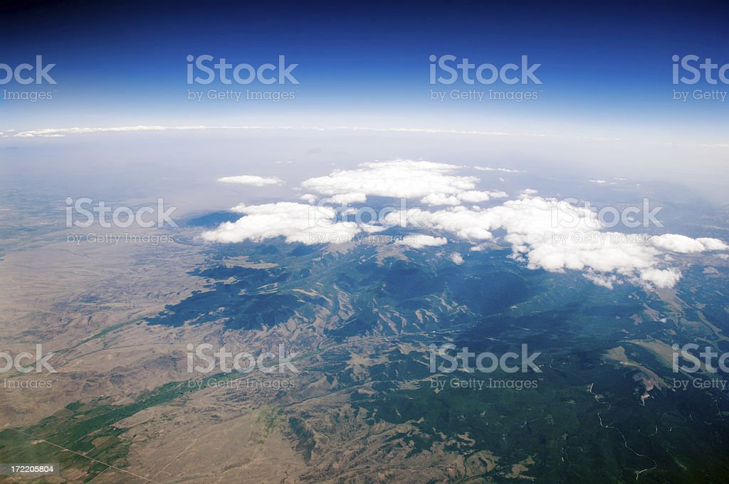 Aerial Earth View royalty-free stock photo