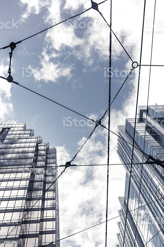 Aerial electric cable in Toronto royalty-free stock photo