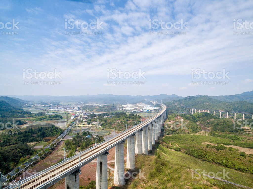 Aerial highway stock photo