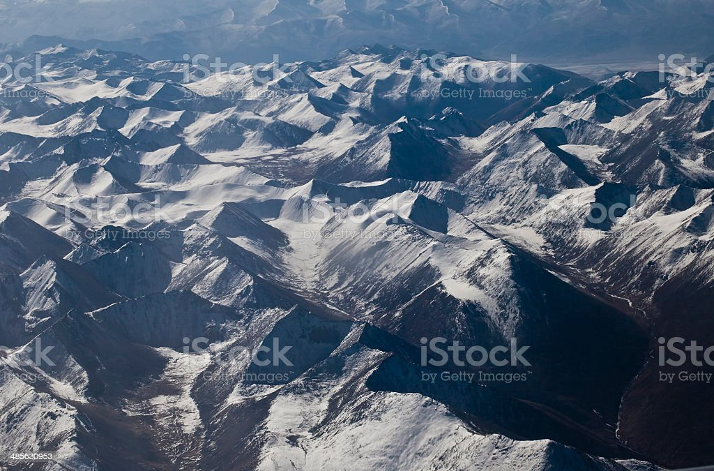 Aerial Himalayan royalty-free stock photo