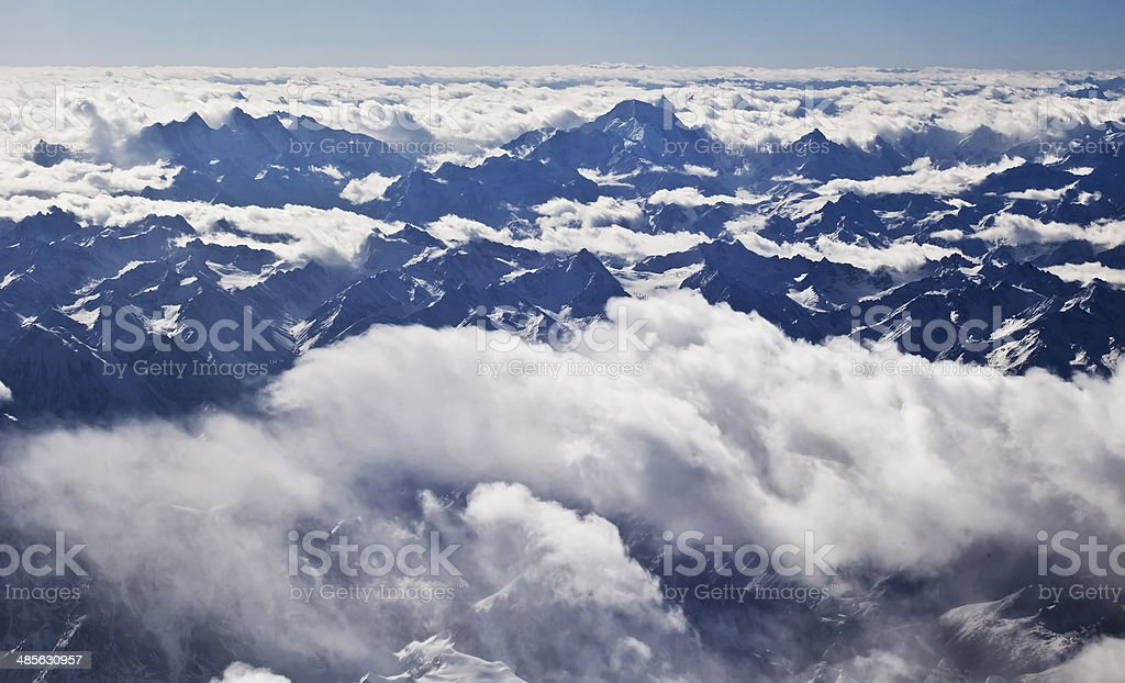 Aerial Himalayan royalty-free stock photo