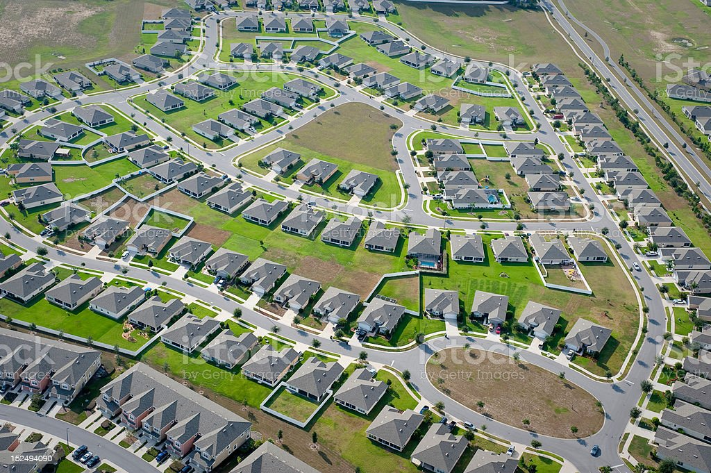 Aerial home housing development community images stock photo