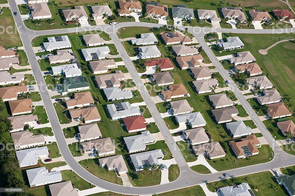 Aerial home housing development community images royalty-free stock photo