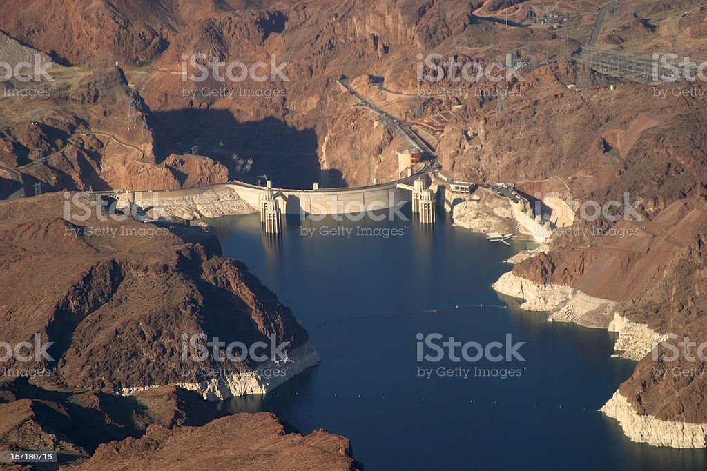 Aerial: Hoover Dam stock photo