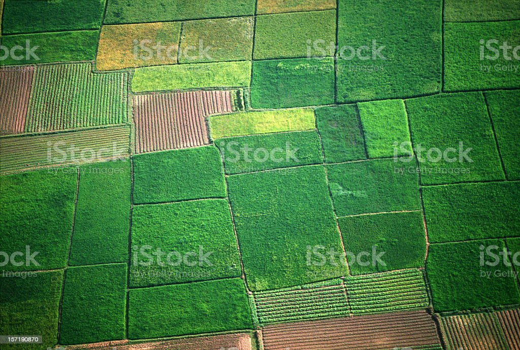 Aerial image of field royalty-free stock photo