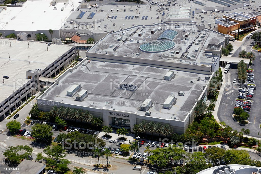 Aerial image of Nordstrom stock photo