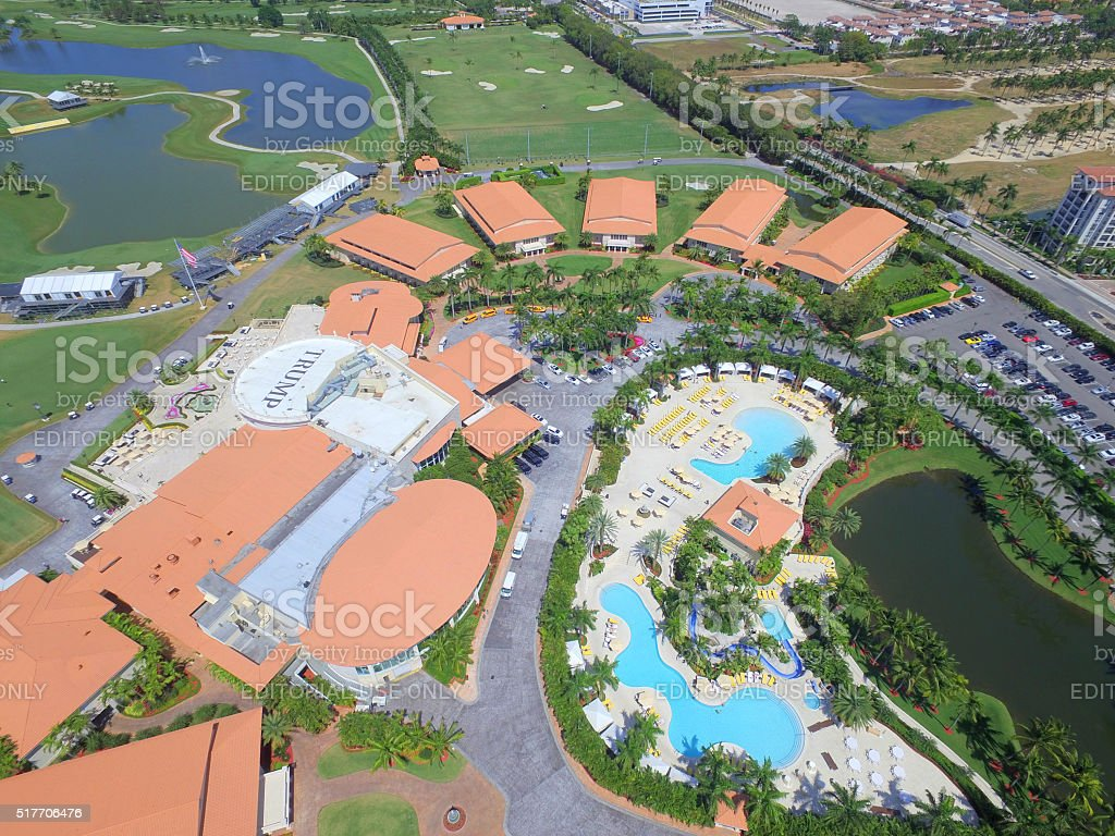 Aerial image Trump National Resort and Golf Course Doral stock photo