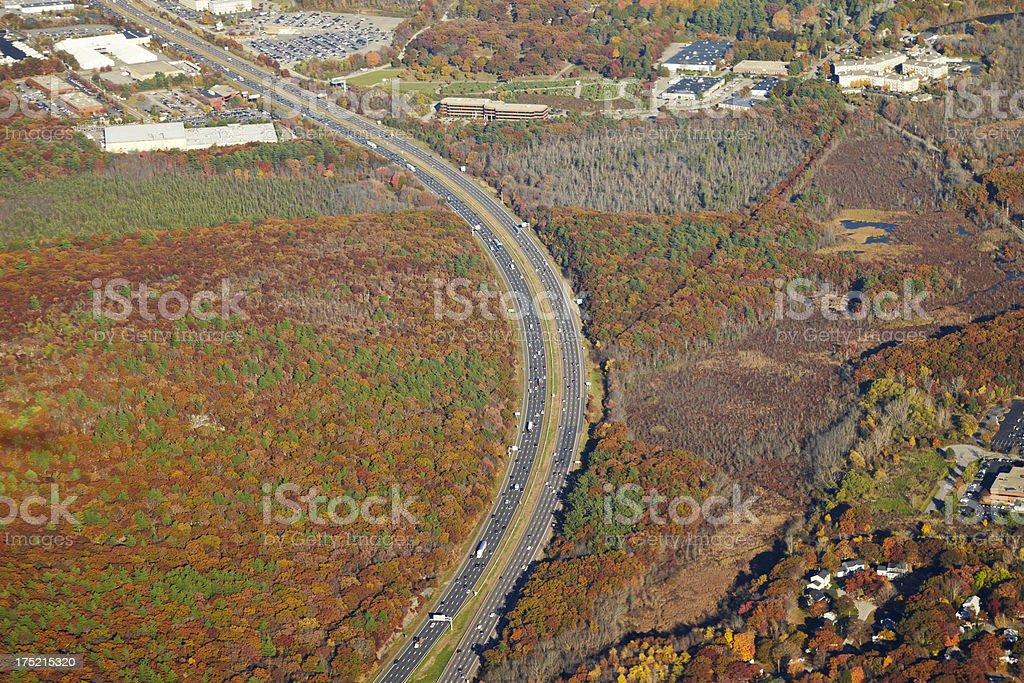 Aerial Interstate stock photo