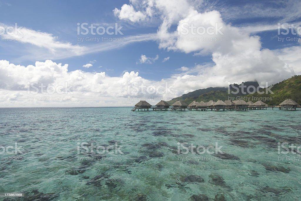Aerial Lagoon stock photo