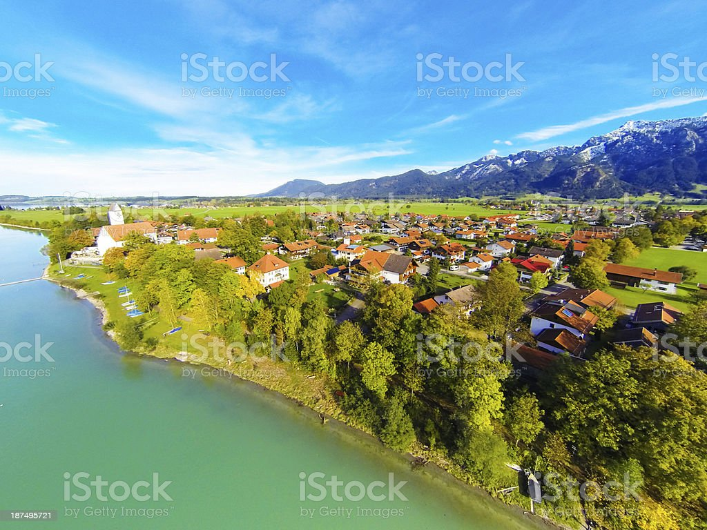 aerial landscape in bavaria, germany royalty-free stock photo