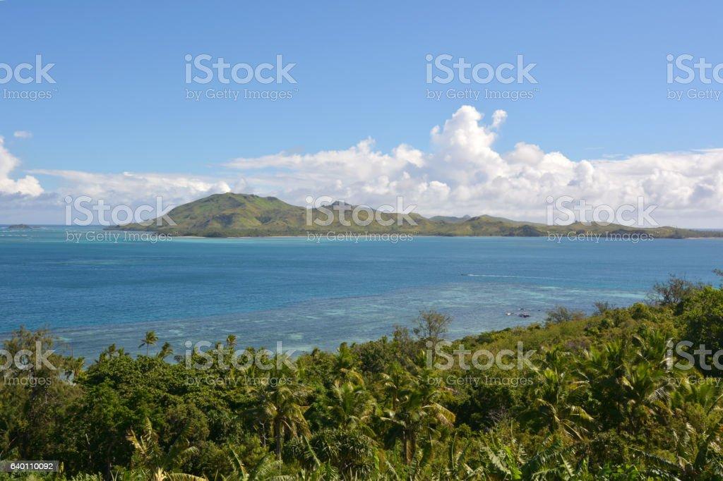 Aerial Landscape of Yasawa islands, Fiji stock photo