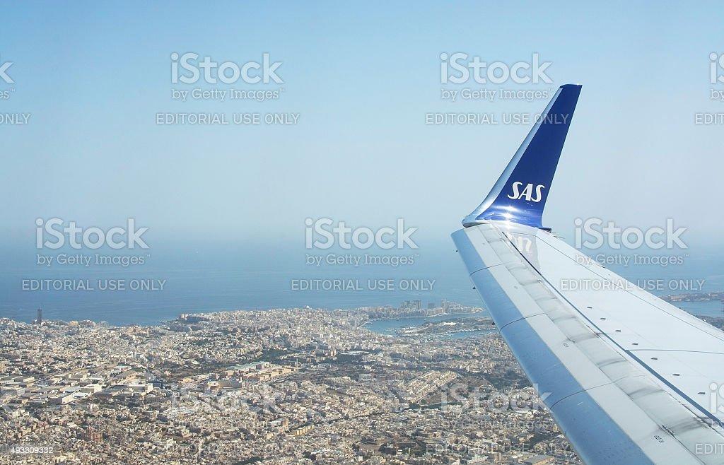 Aerial landscape pattern stock photo