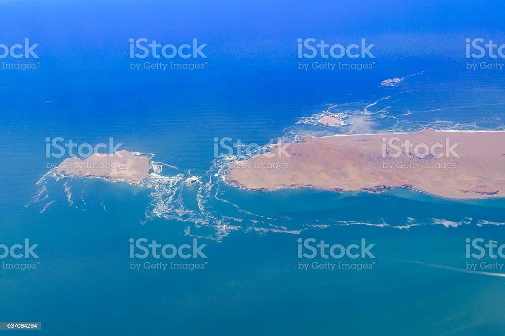 Aerial Landscape Scene stock photo