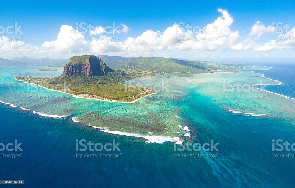 Aerial Mauritius royalty-free stock photo