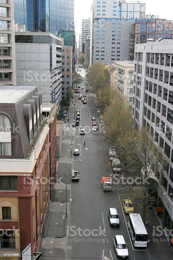 Aerial Melbourne Street royalty-free stock photo