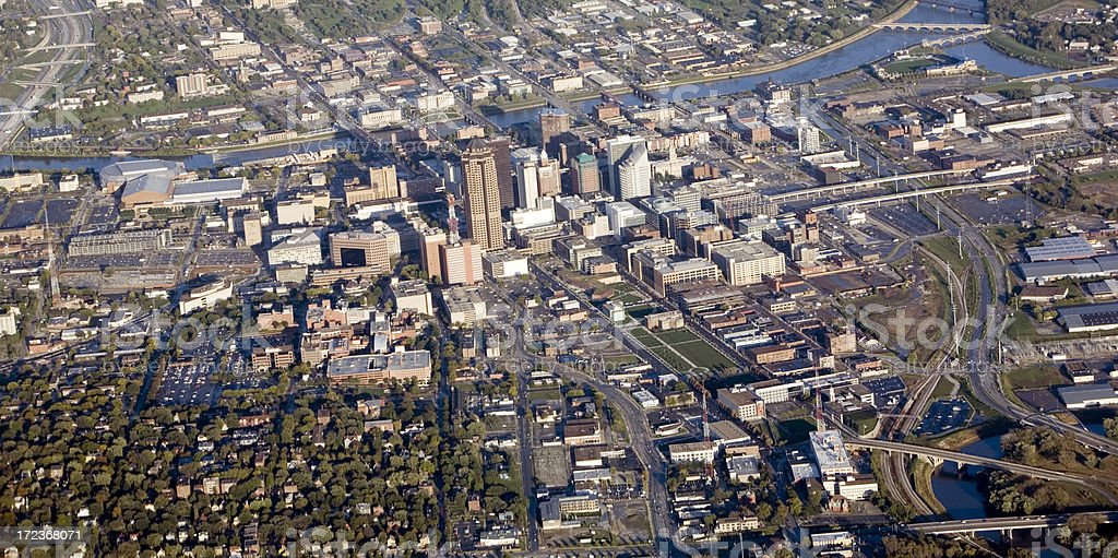 Des Moines Aerial stock photo