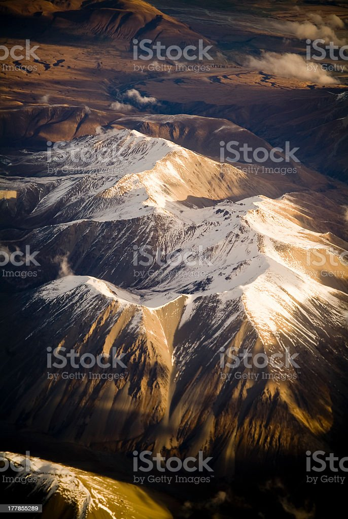 Aerial Mountains royalty-free stock photo