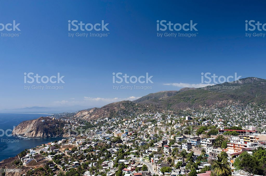 Aerial of Acapulco Mexico royalty-free stock photo