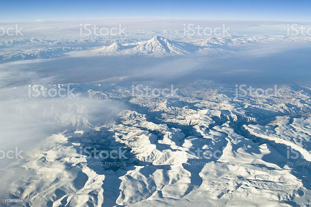 Aerial of Armenia royalty-free stock photo