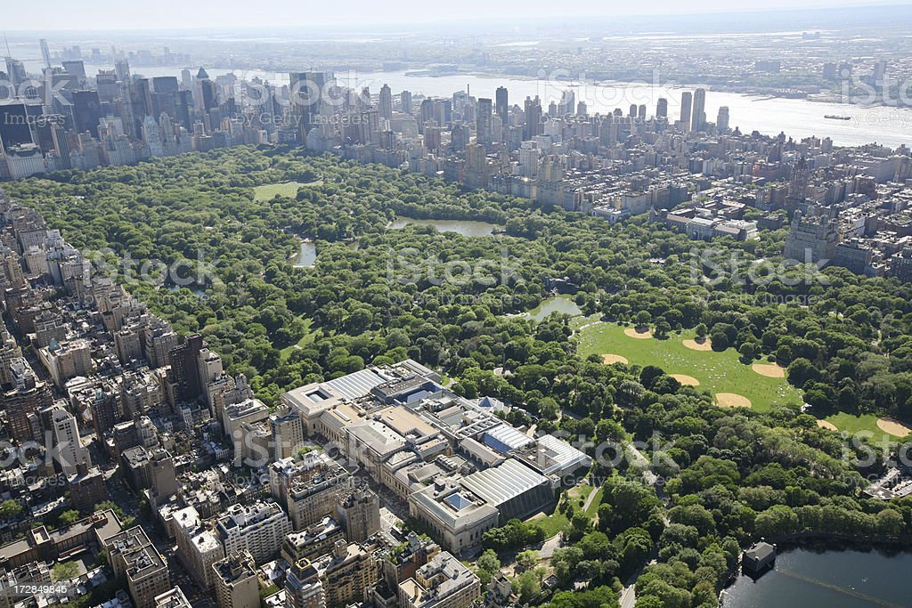 Aerial of Central Park stock photo