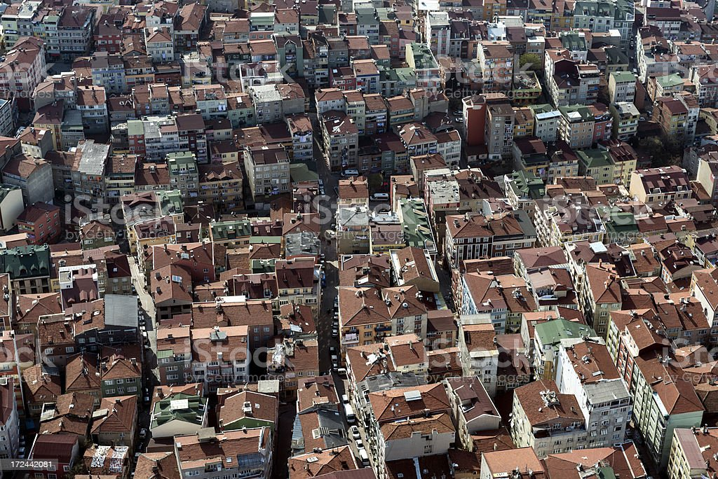Aerial of Istanbul royalty-free stock photo