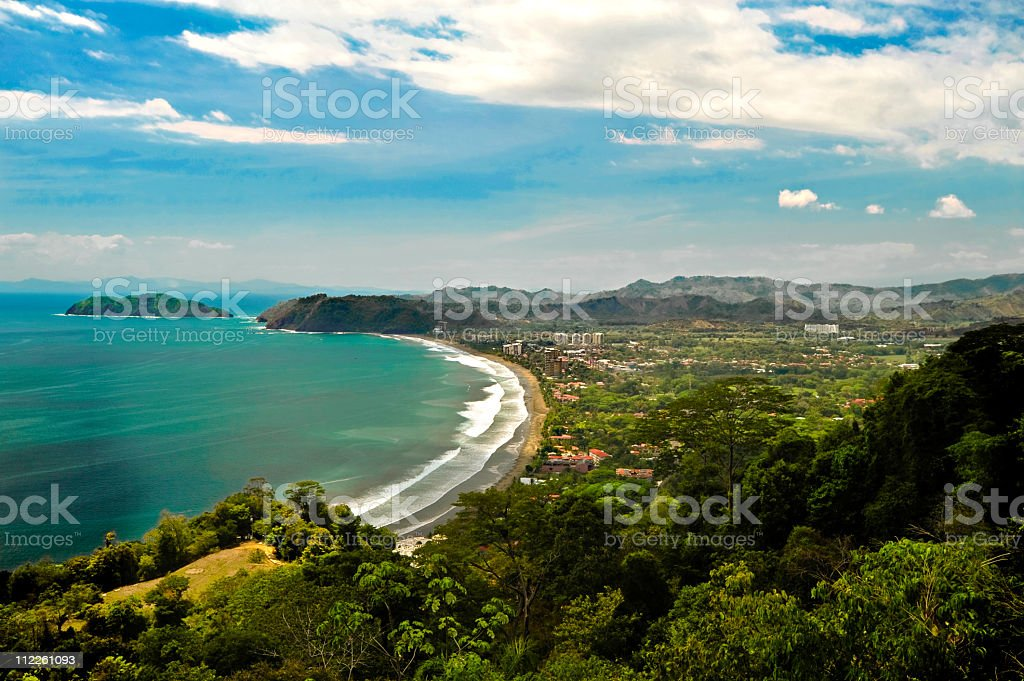 Aerial of Jaco Costa Rica royalty-free stock photo