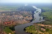 Aerial of Juba, South Sudan's capital