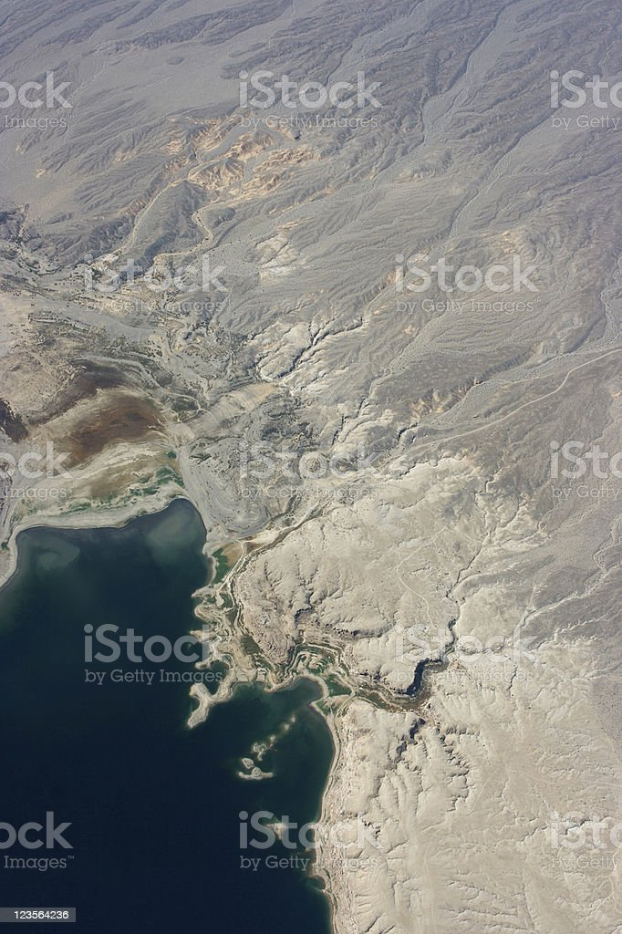 Aerial of Lake Mead stock photo
