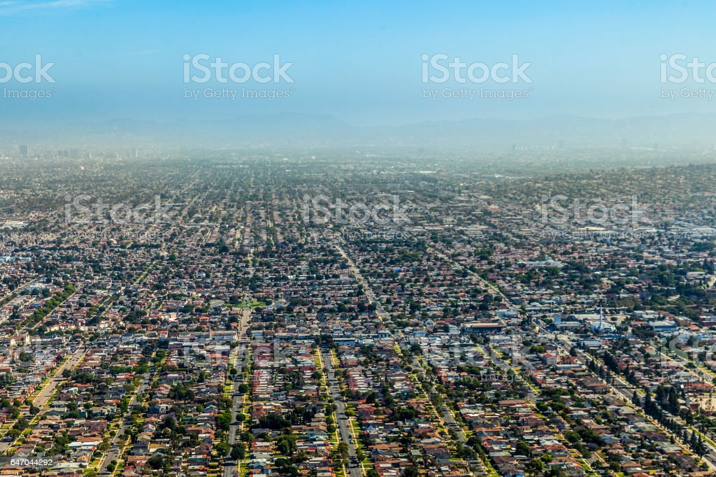 aerial of Los Angeles stock photo