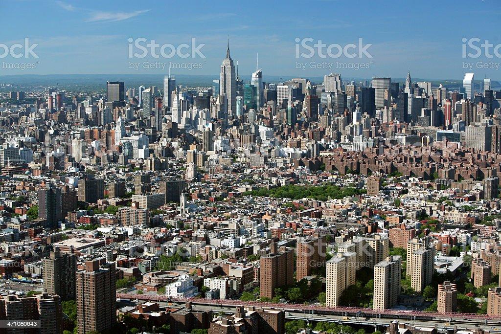 Aerial of Manhattan royalty-free stock photo