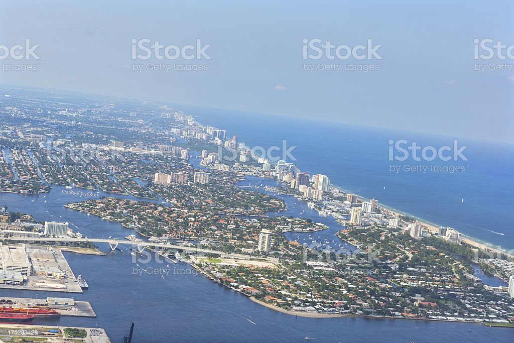Aerial of  Miami Florida royalty-free stock photo