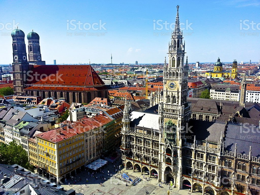 Aerial of Munich city, Germany royalty-free stock photo