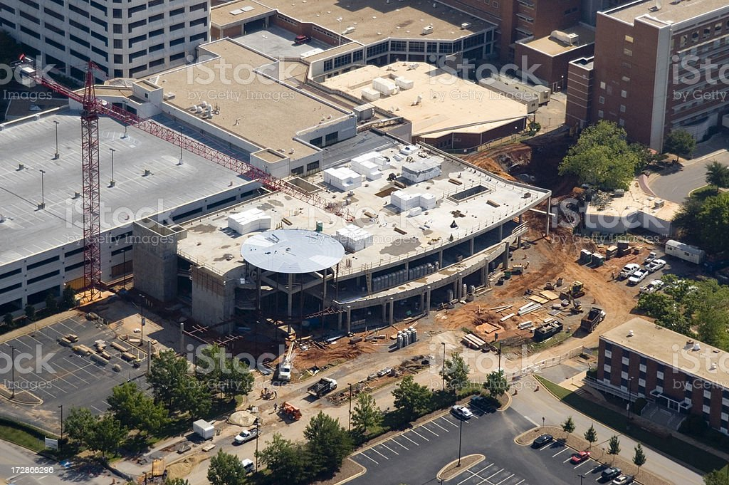 Aerial of New Construction royalty-free stock photo