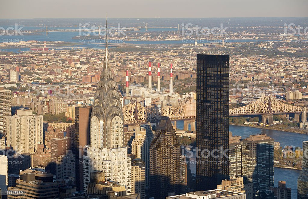 Aerial of New York stock photo