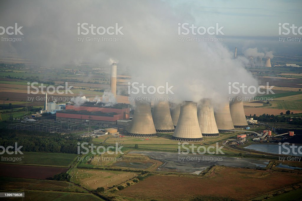 Aerial of Power Station royalty-free stock photo