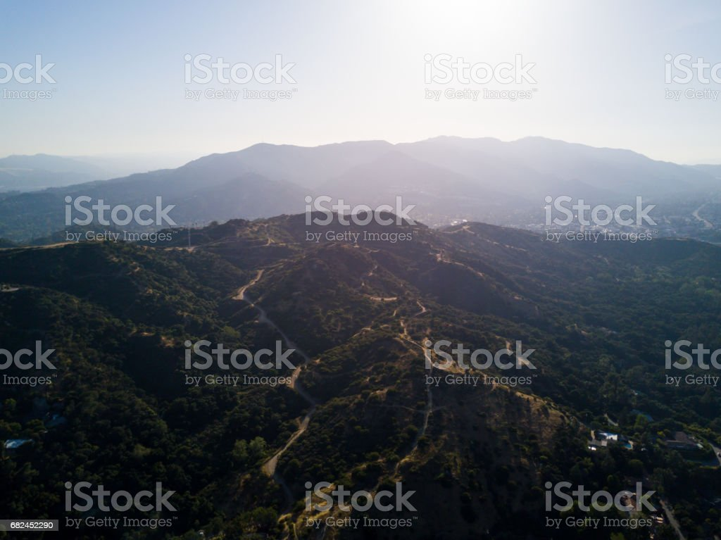 Aerial of Running Trail stock photo