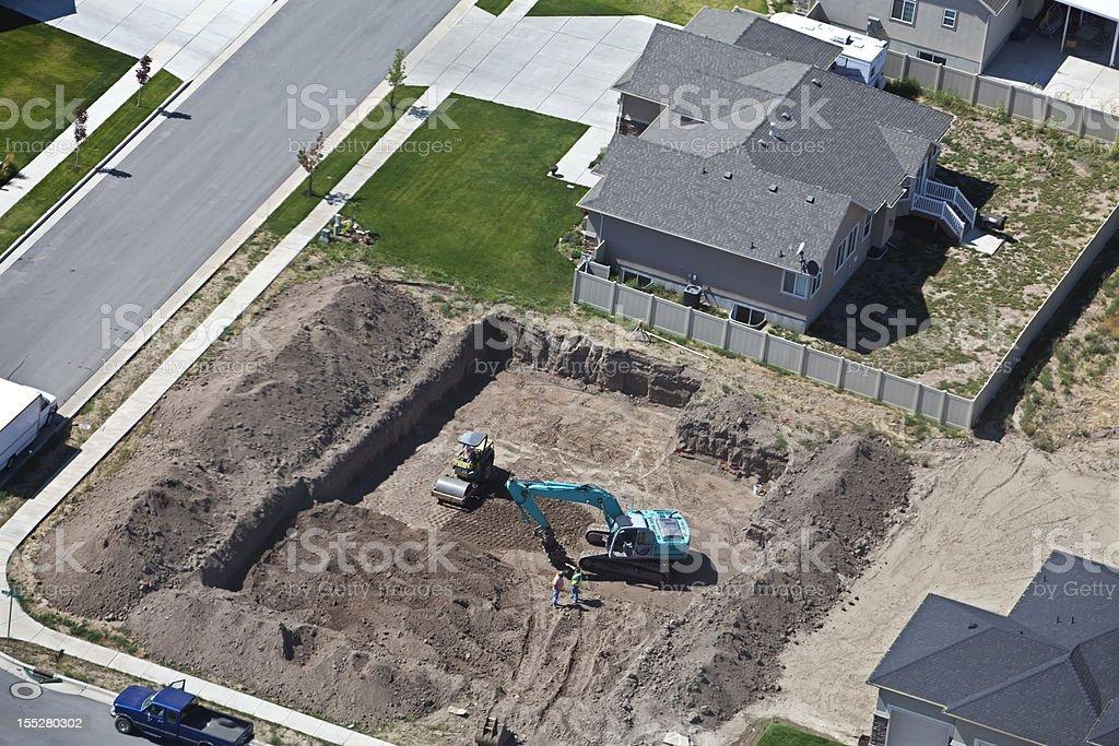 Aerial of Salt Lake City Utah New Construction stock photo