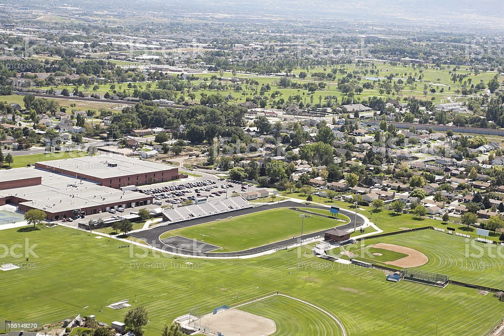 Aerial of Salt Lake City Utah royalty-free stock photo