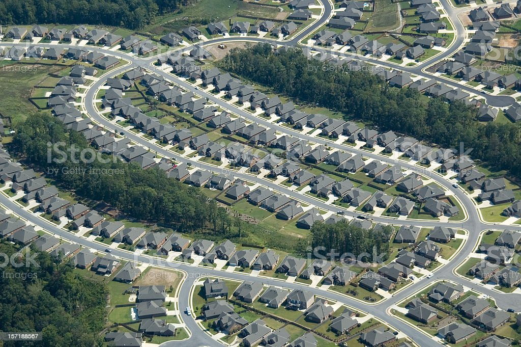 Aerial of Suburb Housing royalty-free stock photo