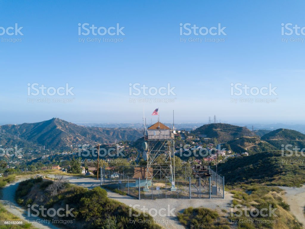 Aerial of Water Tower stock photo