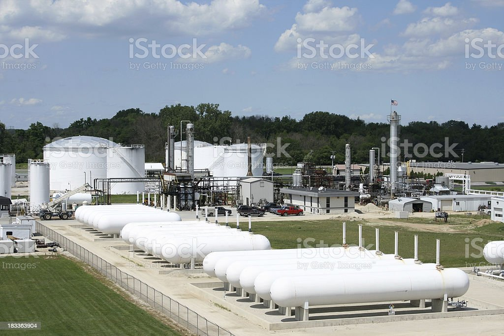 Aerial Oil Refinery royalty-free stock photo