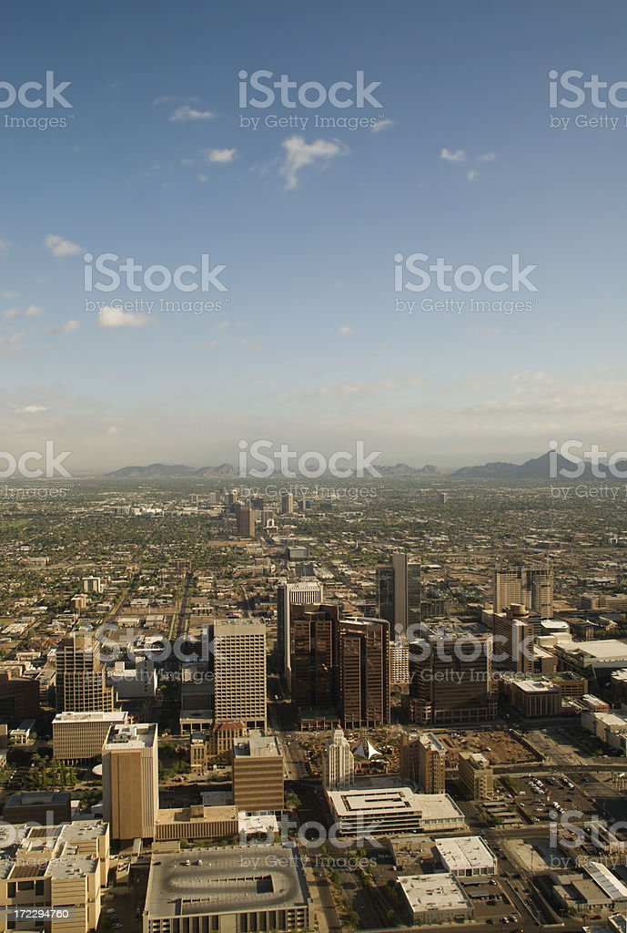 Aerial over Phoenix royalty-free stock photo