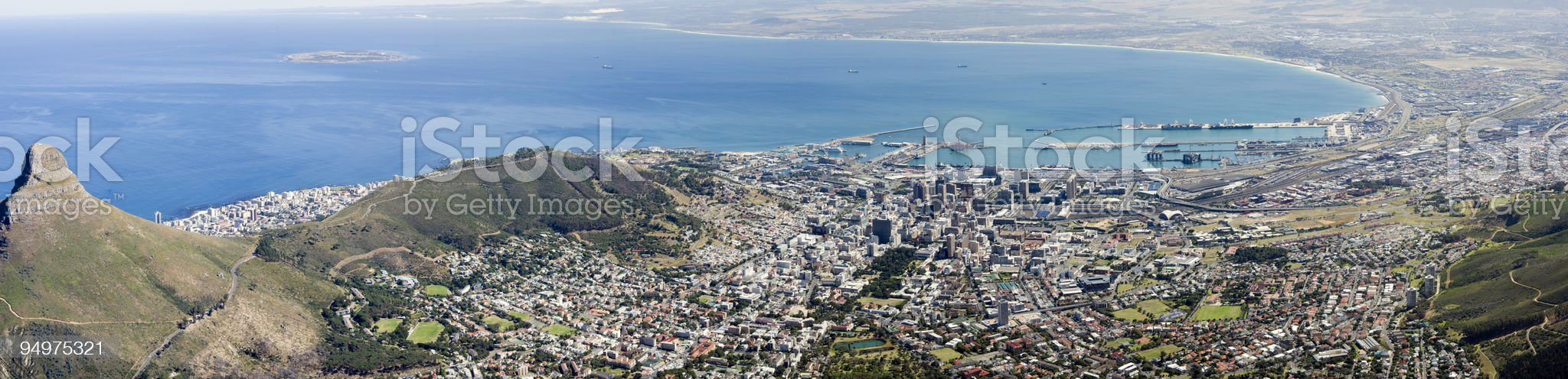 Aerial Panorama of Cape Town, South Africa royalty-free stock photo